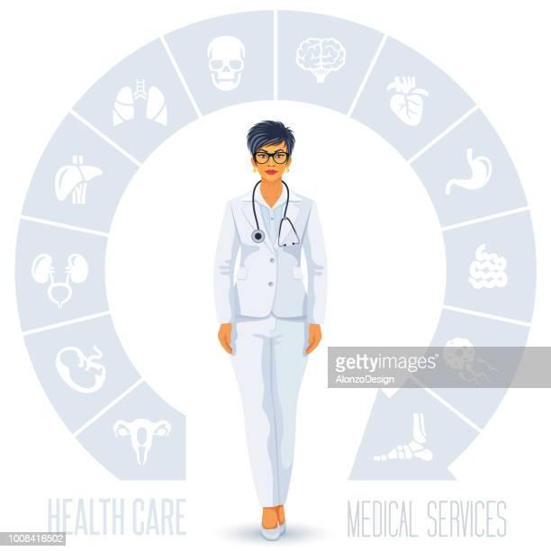 ヘルスケアと医師 - 小児科医点のイラスト素材/クリップアート素材/マンガ素材/アイコン素材