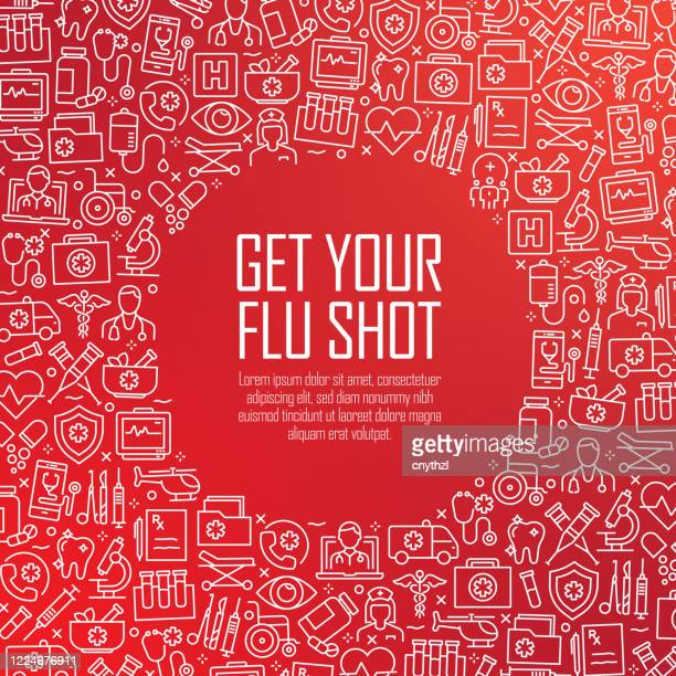 get your flu shot - healthcare and medical concept vector pattern and abstract background. - injecting stock illustrations