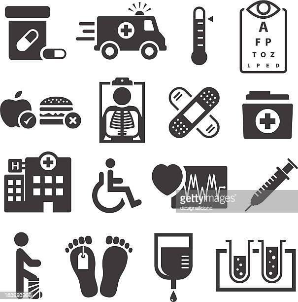 healthcare and medical icons - ambulance stock illustrations