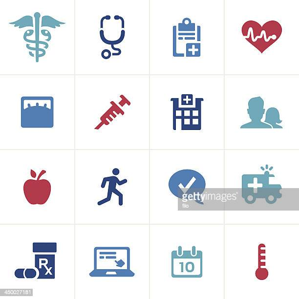 healthcare and medical icons - medical symbol stock illustrations, clip art, cartoons, & icons