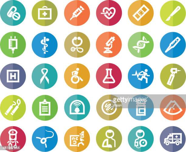 Healthcare and Medicine colored icons