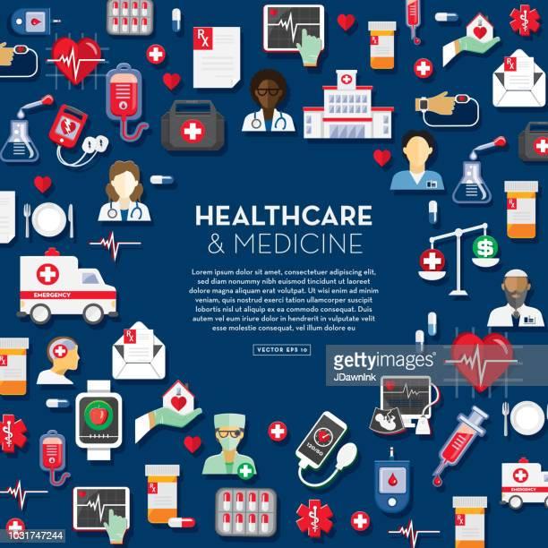 Healthcare and medicine design template