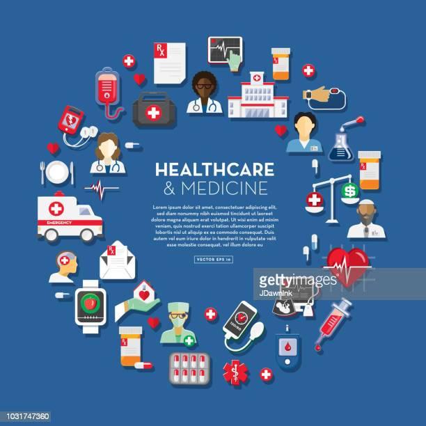 ilustraciones, imágenes clip art, dibujos animados e iconos de stock de plantilla de diseño de salud y medicina - diabetes