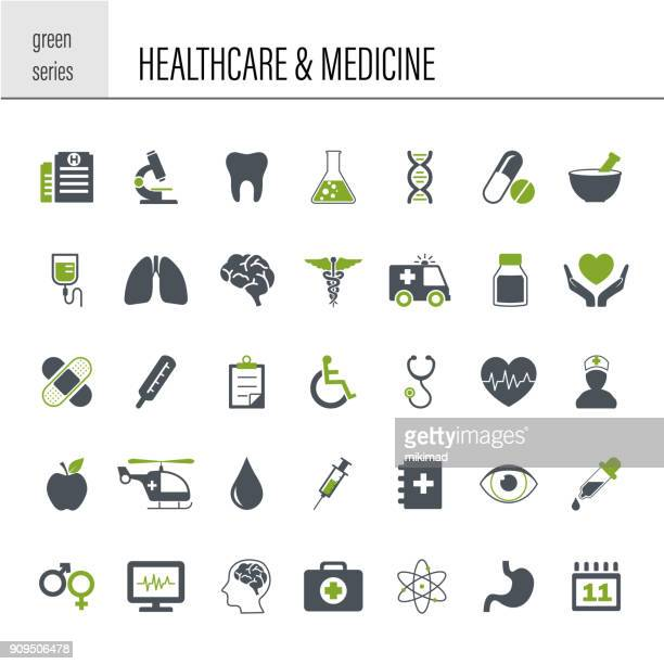 Healthcare and Medicine Icon Set