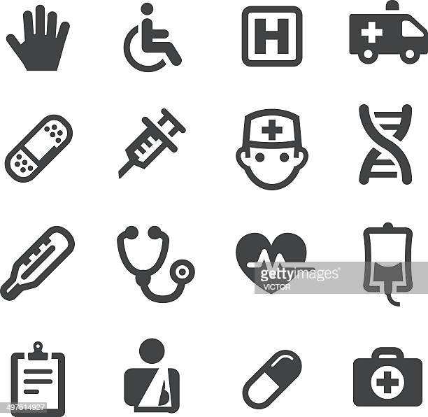 healthcare and medicine icons - acme series - broken arm stock illustrations, clip art, cartoons, & icons