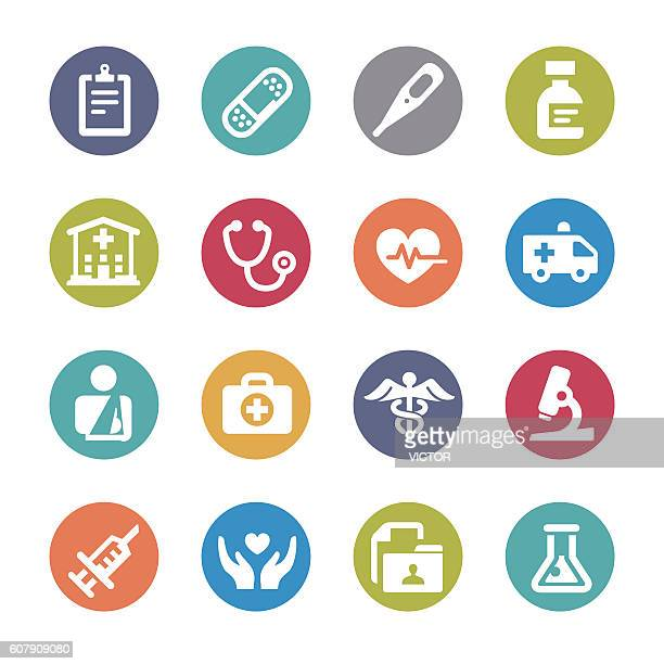 Healthcare and Medicine Icons - Circle Series