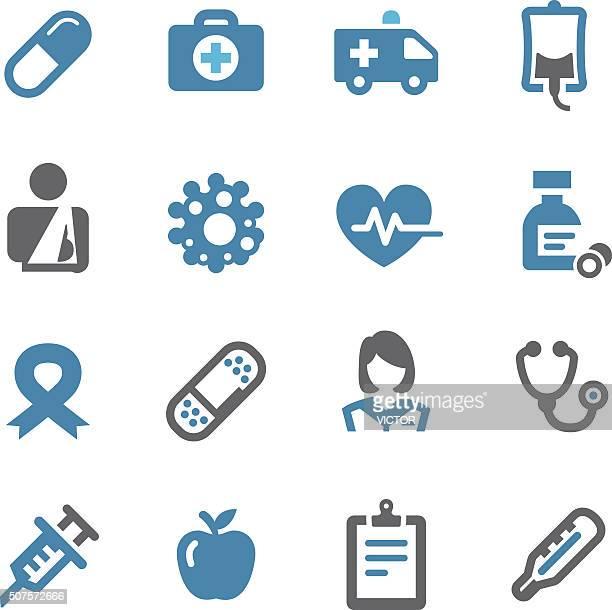 ilustraciones, imágenes clip art, dibujos animados e iconos de stock de cuidado la salud y medicina iconos-conc. de la serie - enfermera