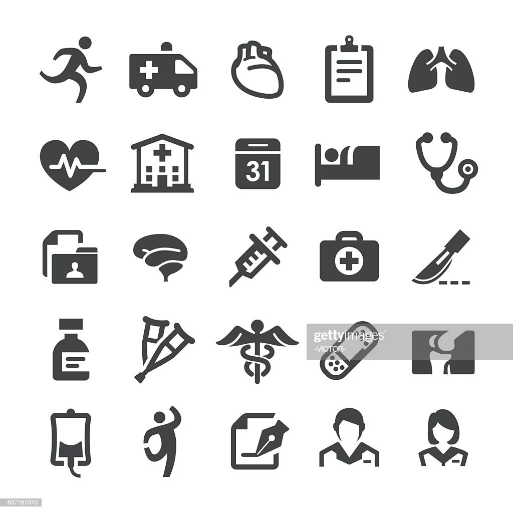 Healthcare and Medicine Icons - Smart Series : stock illustration