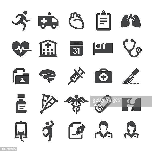healthcare and medicine icons - smart series - medical symbol stock illustrations, clip art, cartoons, & icons