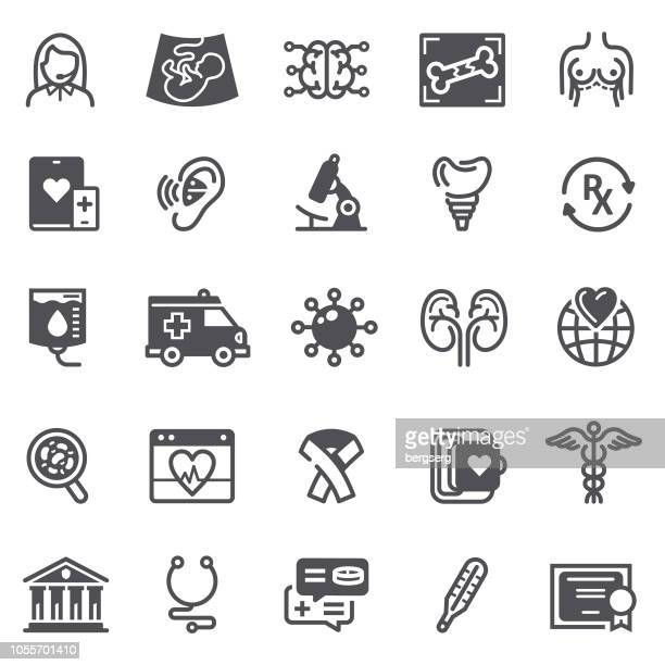 healthcare and medicine icons - hearing aid stock illustrations, clip art, cartoons, & icons