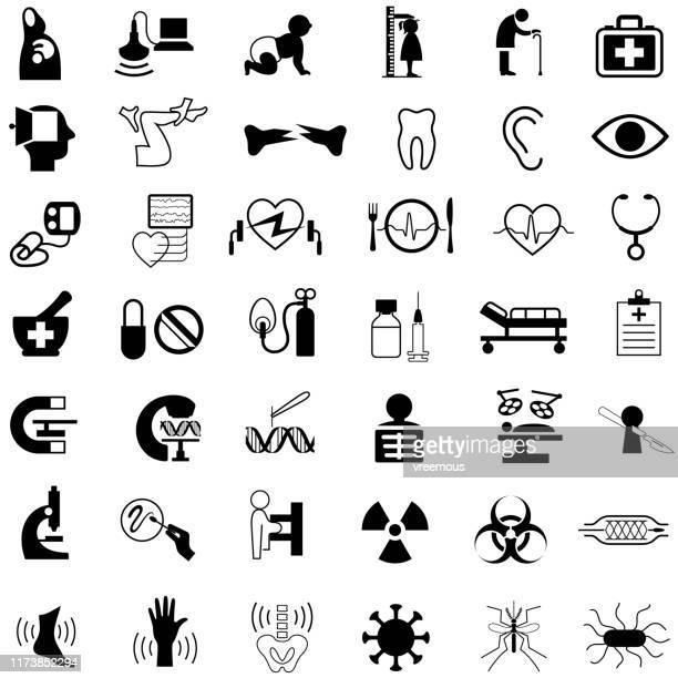 ヘルスケアと医療のアイコン - 医療診断機器点のイラスト素材/クリップアート素材/マンガ素材/アイコン素材