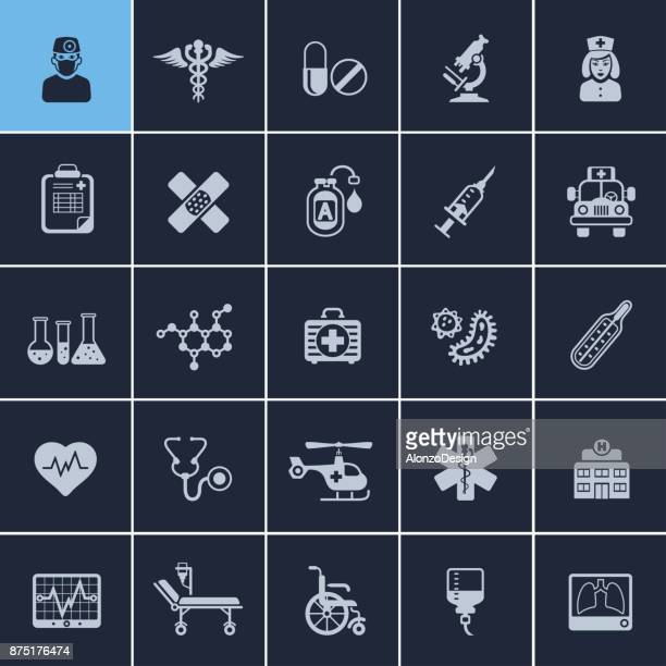 healthcare and medicine icons - aids stock illustrations, clip art, cartoons, & icons
