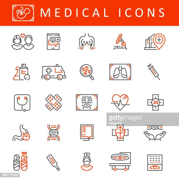 healthcare and medicine icons - neurosurgery stock illustrations, clip art, cartoons, & icons