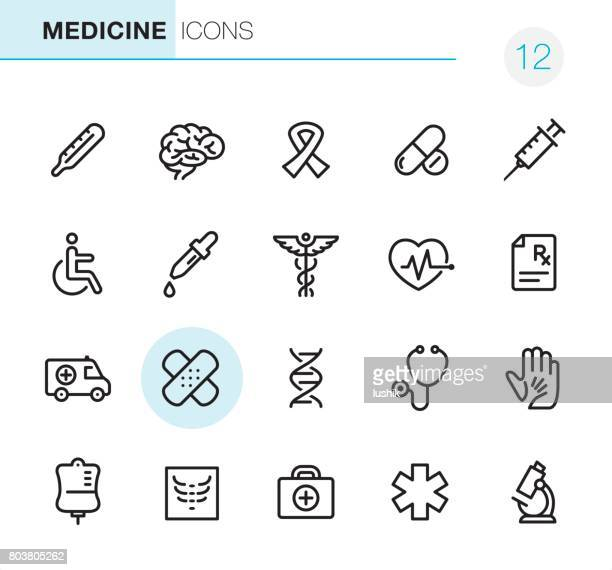 healthcare and medicine - pixel perfect icons - medical symbol stock illustrations, clip art, cartoons, & icons