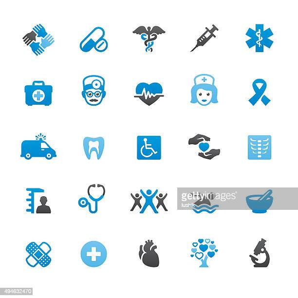 ヘルスケアと医療関連のベクトルのアイコン