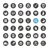 Healthcare and Medicine vector icons