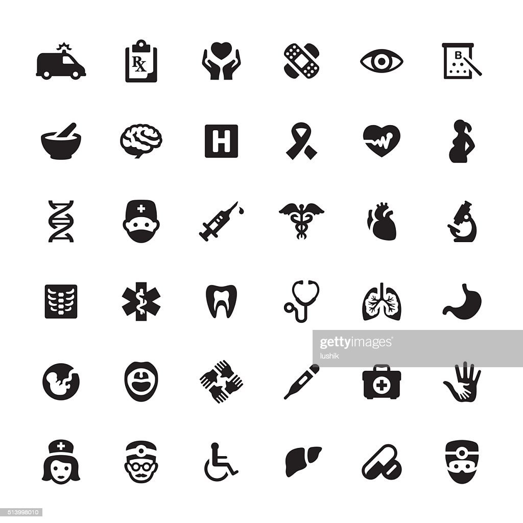 Healthcare And Medicine Vector Symbols And Icons Vector Art Getty