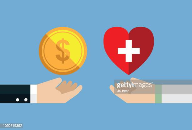healthcare and money - finance stock illustrations