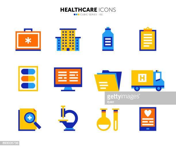 Healthcare Flat Icon Set