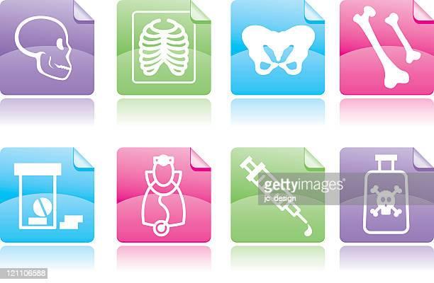 ilustraciones, imágenes clip art, dibujos animados e iconos de stock de serie de iconos de la atención médica - femur