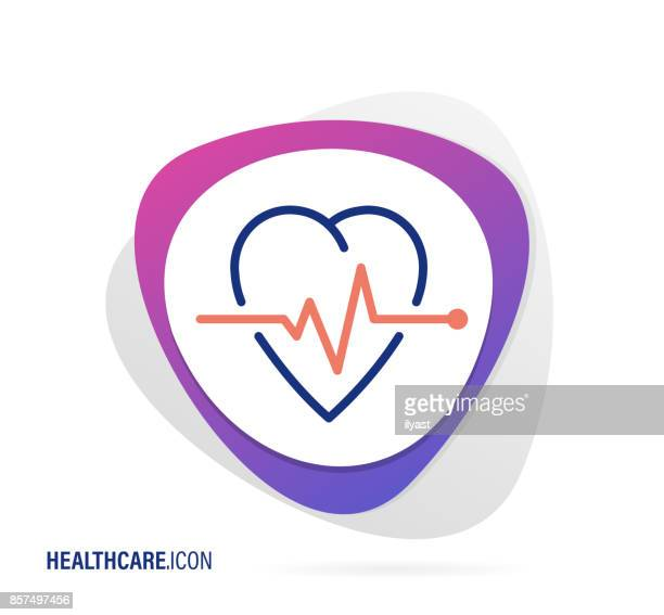 healthcare icon - listening to heartbeat stock illustrations, clip art, cartoons, & icons