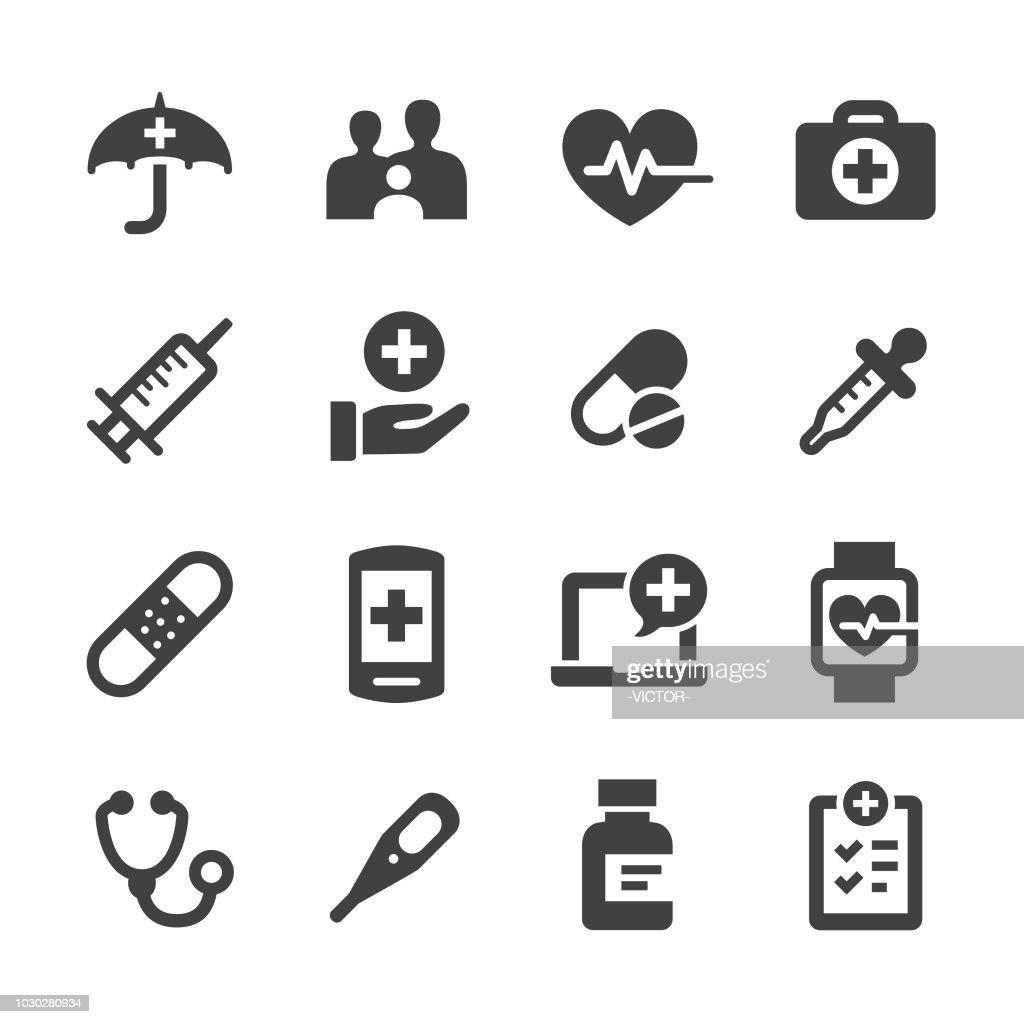 Gesundheitswesen-Symbole - Acme-Serie : Stock-Illustration