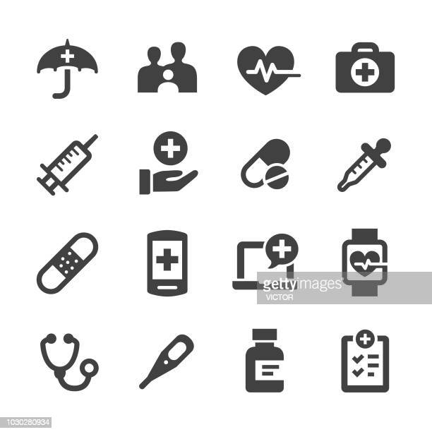 healthcare icons - acme series - injecting stock illustrations