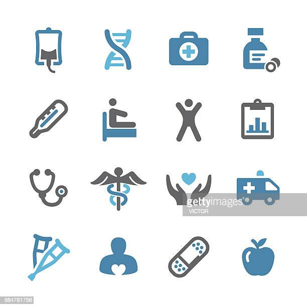 healthcare icons - conc series - infused stock illustrations