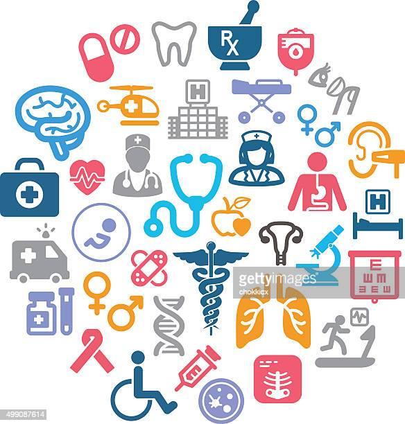healthcare icons - brain tumour stock illustrations