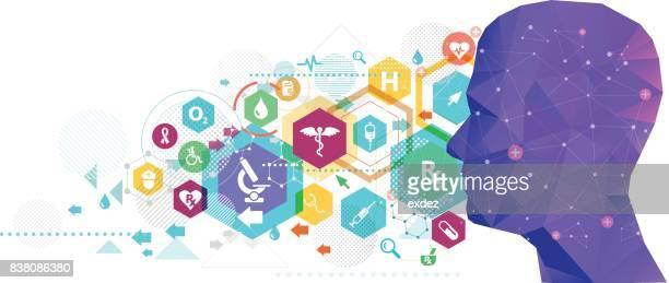 healthcare idea design - panoramic stock illustrations