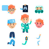 Healthcare Infographic Elements. Vector Set