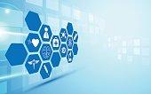 healthcare innovation concept design background