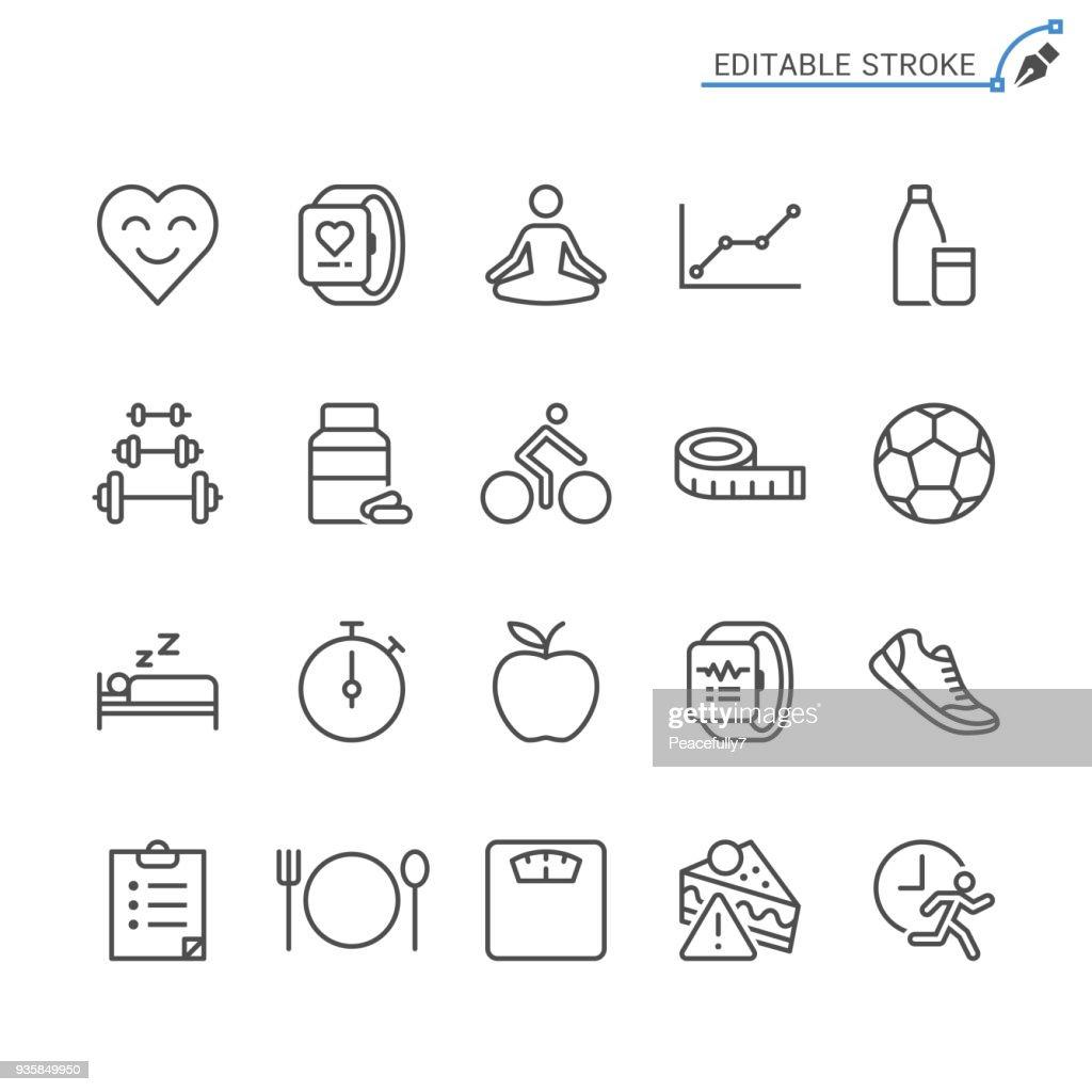 Healthcare line icons. Editable stroke. Pixel perfect.