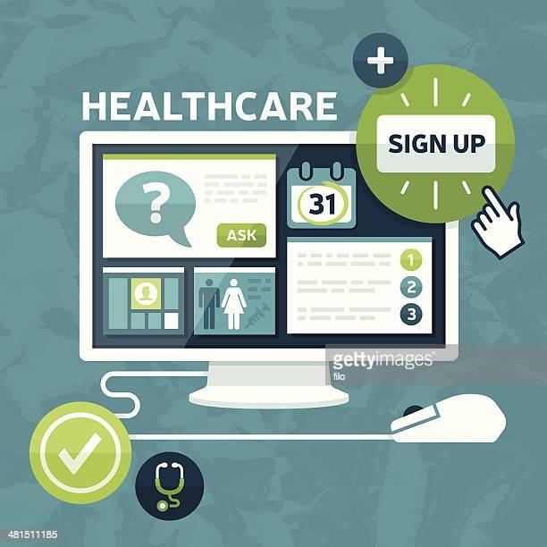 ilustrações, clipart, desenhos animados e ícones de de saúde marketplace - formulário de pedido