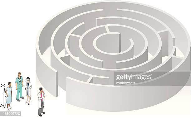 Healthcare Maze Illustration
