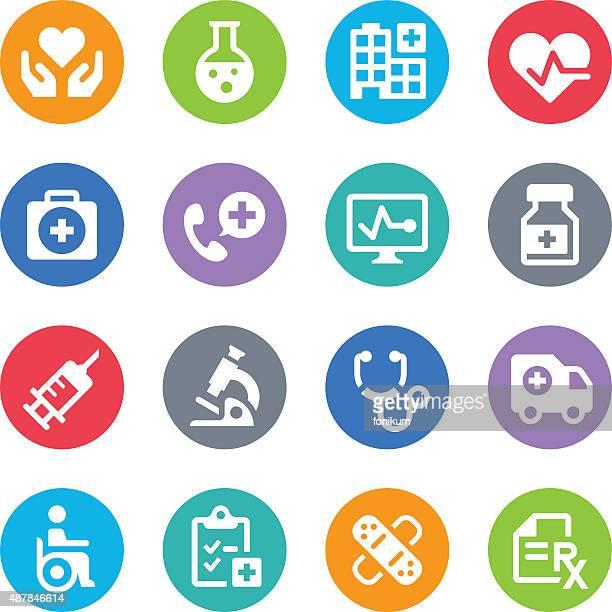 Healthcare & Medicine Icons - Circle