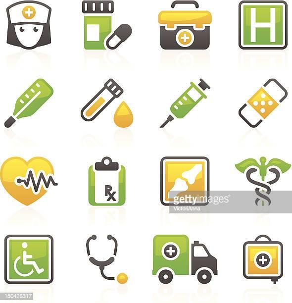 ilustraciones, imágenes clip art, dibujos animados e iconos de stock de & medicine_flory series_4 atención médica - enfermera