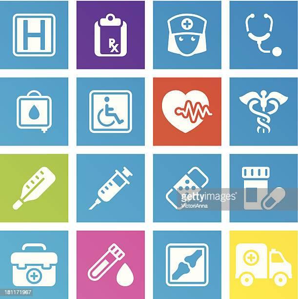ilustraciones, imágenes clip art, dibujos animados e iconos de stock de & medicine_trendy series_3 atención médica - enfermera