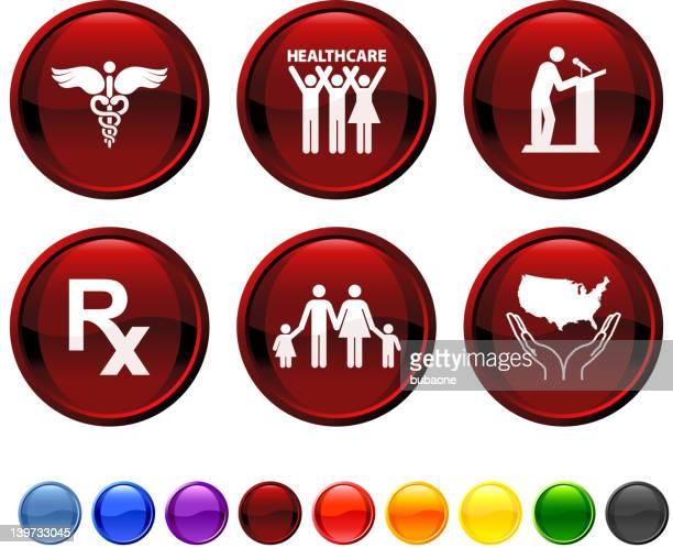 ilustrações, clipart, desenhos animados e ícones de nós reforma da assistência médica conjunto de ícones - reforma assunto