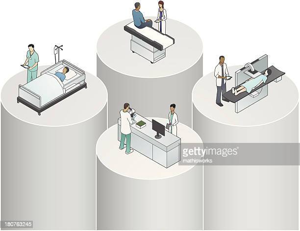 Healthcare Silos Illustration
