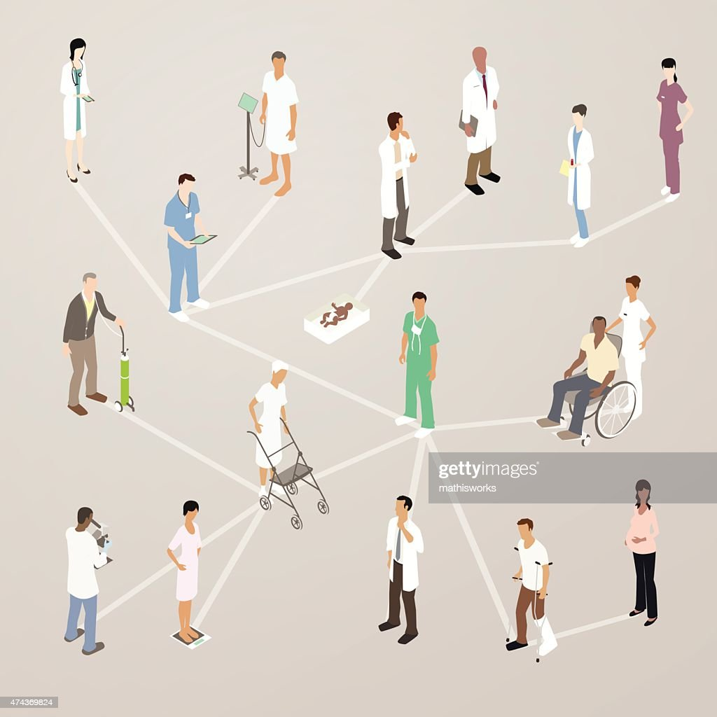 Healthcare Social Media Illustration : Vector Art