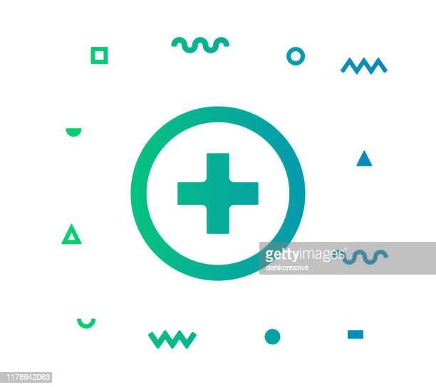 healthcare vector icon line illustration - cartoon cancer stock illustrations