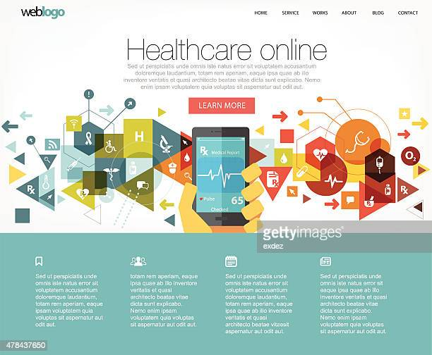 Healthcare website layout