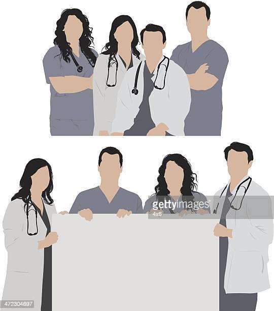 ilustraciones, imágenes clip art, dibujos animados e iconos de stock de los trabajadores de la salud - enfermera