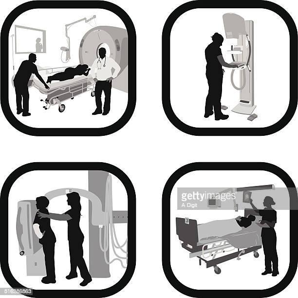 healthcarecost - x ray equipment stock illustrations, clip art, cartoons, & icons