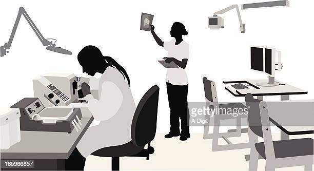 healthier vector silhouette - scientist stock illustrations