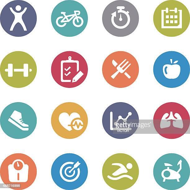 ilustrações, clipart, desenhos animados e ícones de saúde e fitness ícones-circle series - cardiovascular exercise
