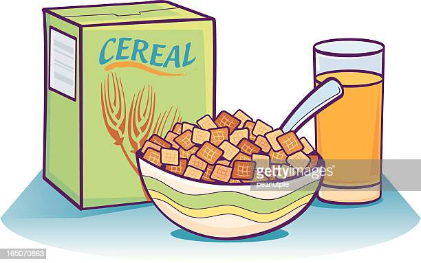 healthy breakfast - breakfast cereal stock illustrations, clip art, cartoons, & icons