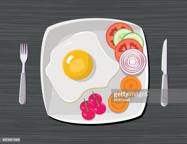 ilustrações de stock, clip art, desenhos animados e ícones de healthy breakfast - mesa cafe da manha