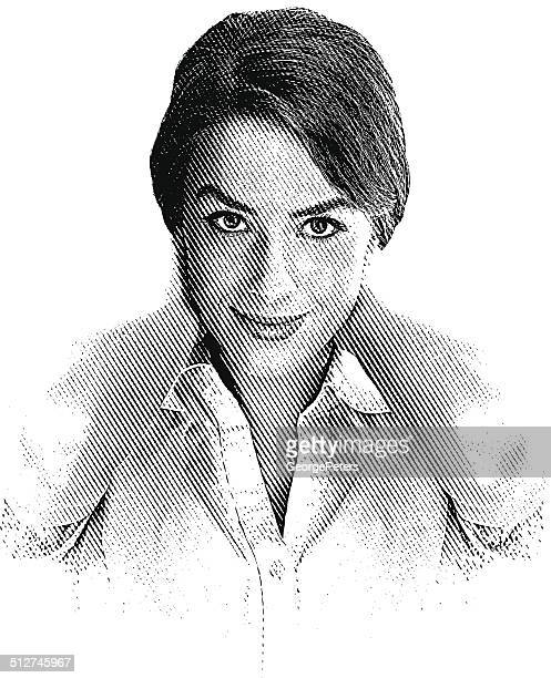 healthy, casual adult woman - high key stock illustrations, clip art, cartoons, & icons